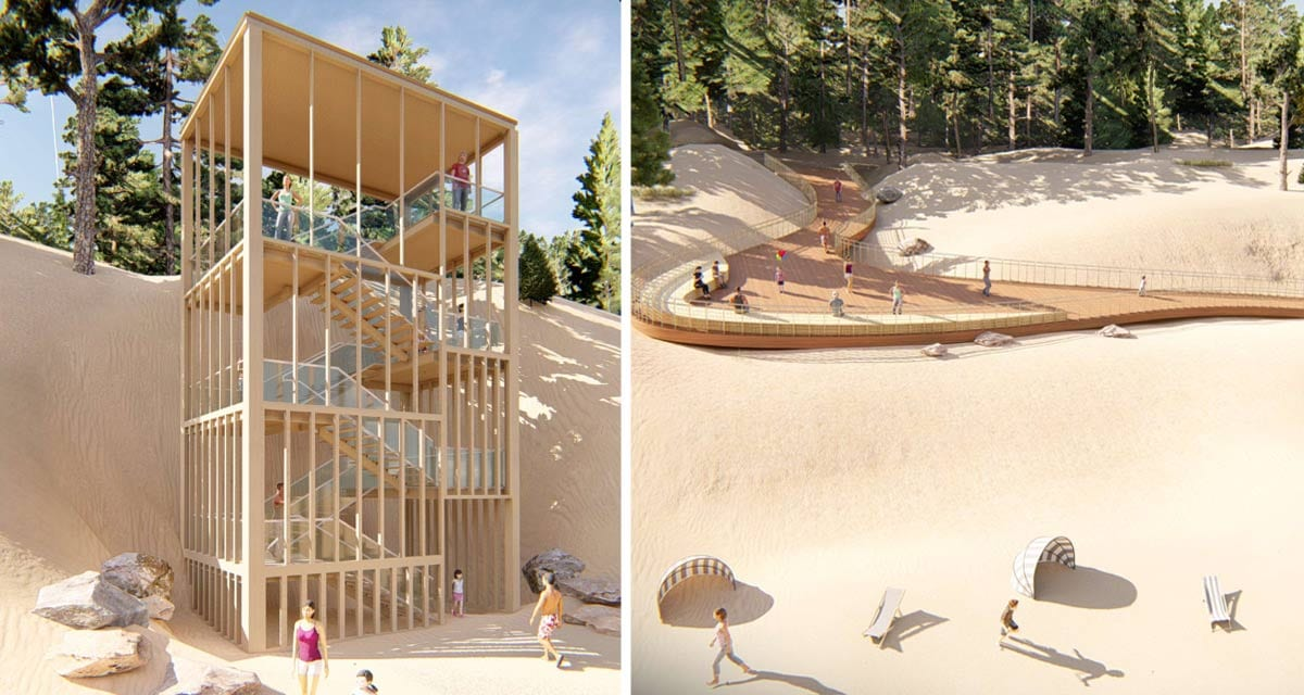 Nowatorskie koncepcje architektoniczne modernizacji zejść naplażę wŚwiętoujściu iWisełce