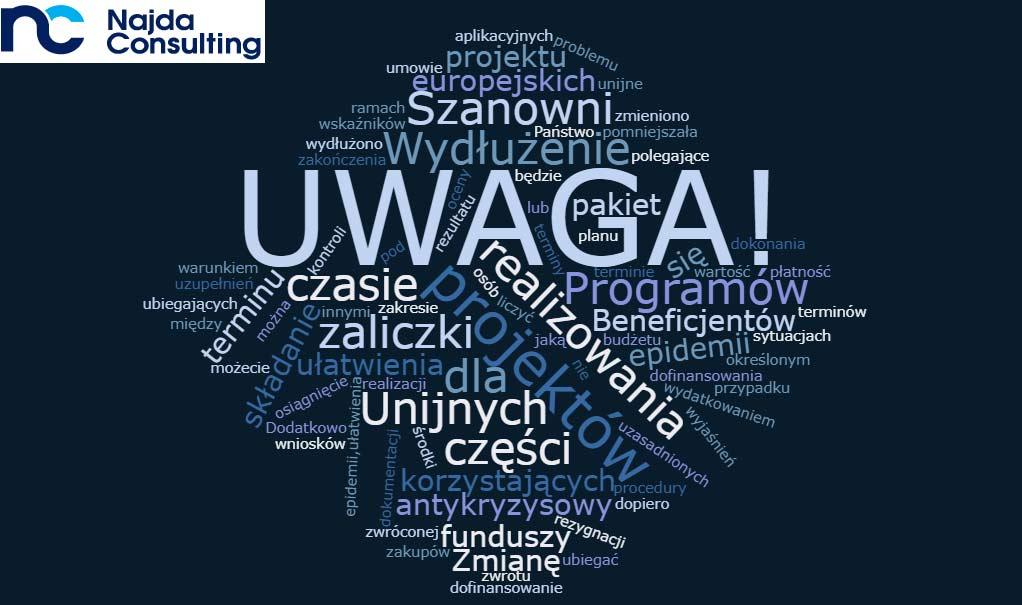 UWAGA! Pakiet Antykryzysowy dla Beneficjentów korzystających zfunduszy europejskich