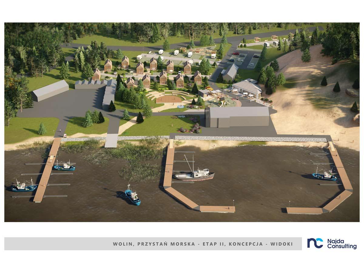 koncepcja urbanistyczno - architektoniczna Przystani Morskiej wWolinie