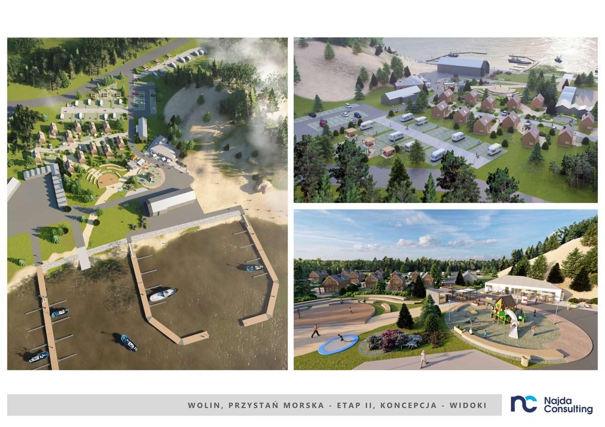 Koncepcja urbanistyczno – architektoniczna zagospodarowania turystycznego Przystani Morskiej wWolinie – etap 2
