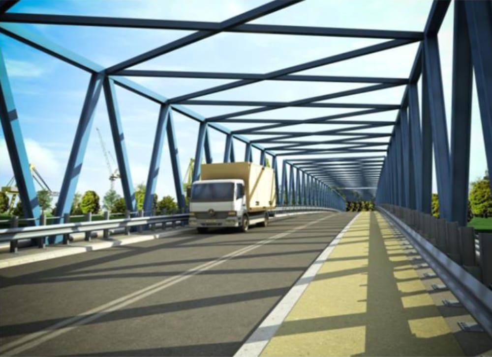 Połączenie mostowo - drogowe wcelu skomunikowania terenów inwestycyjnych Gryfia Biznes Park