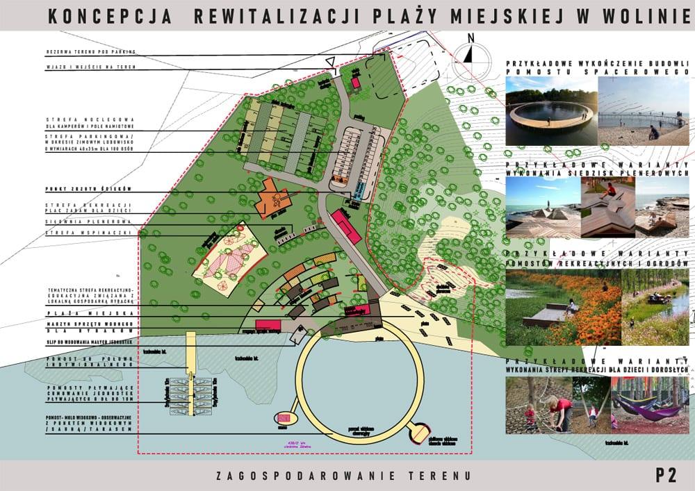 Koncepcja projektowa zagospodarowania terenów rekreacyjnych plaży miejskiej wWolinie