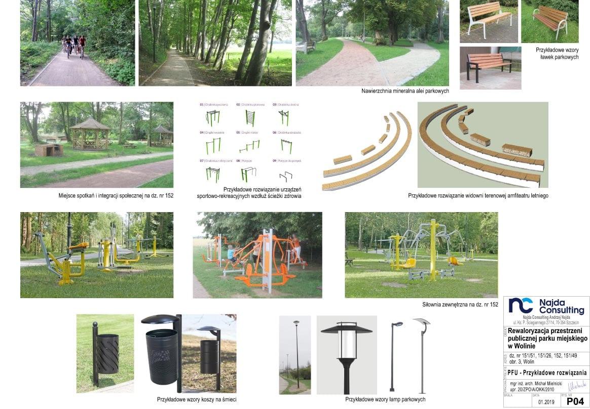 Koncepcja projektowa rewaloryzacji przestrzeni publicznej parku miejskiego wWolinie